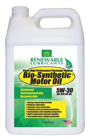 Engine Oil,  Bio-Synthetic,  1 Gal.,  5W-30