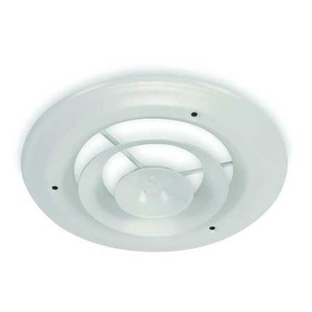 "Ceiling Diffuser, Round, Duct Size 10"", Wht"