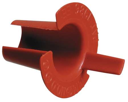 Bushing, Anti-Short, 3/8 In, Plastic, PK100