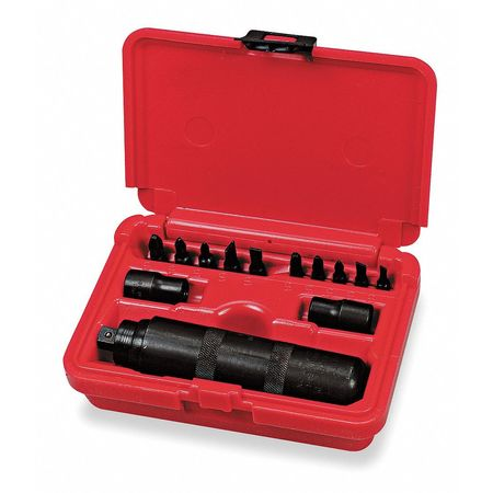 Impact Driver and Bit Set, 3/8In Dr, 13 Pc