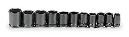Impact Socket Set, 1/2 In Dr, 11 pc
