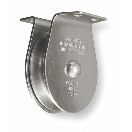 Pulley Block, 800 lb., Sheave OD 3 In.