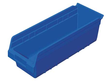 Shelf Bin,  17-7/8 In. L, 6-5/8 In. W, 6 In H