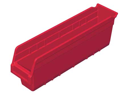 Shelf Bin,  17-7/8 In. L, 4-1/8 In. W, 6 In H
