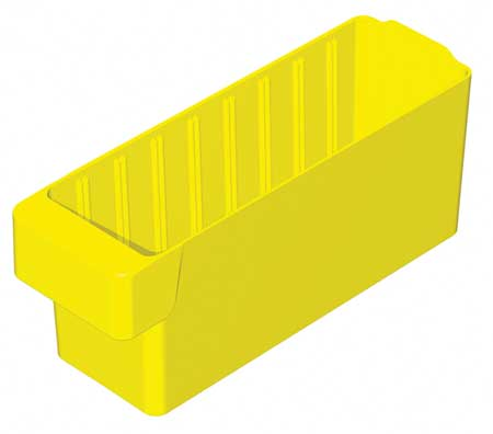 Drawer Bin, 11-5/8x3-3/4x4-5/8 In, Yellow