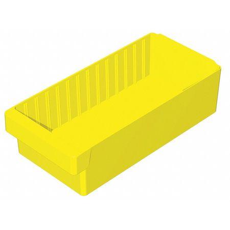 Drawer Bin, 17-5/8x8-3/8x4-5/8 In, Yellow