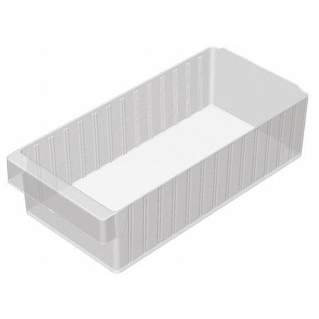 Drawer Bin, 17-5/8x8-3/8x4-5/8 In, Clear
