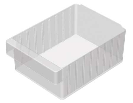 Drawer Bin, 11-5/8x8-3/8x4-5/8 In, Clear