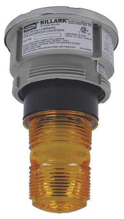 Hazardous Warning Light, Xenon, Amber, 120V