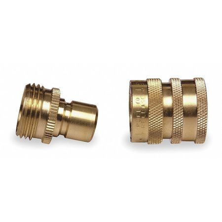 Quick Connector Set, M/F, GHT, Brass