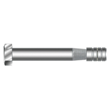 Taper Bolt w/Nut, 3/8 x 3 In, PK50