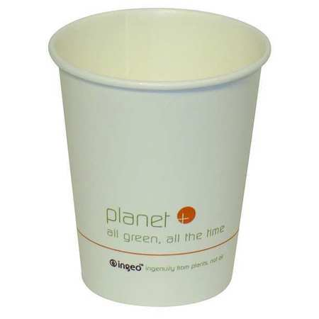 Disposable Hot cup 8 oz. White,  Paper,  Pk500