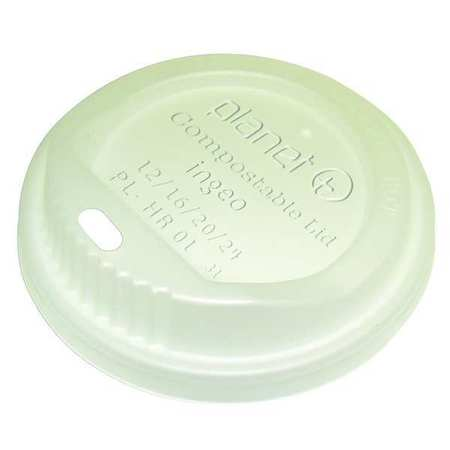 Lid for 12 to 16 oz Hot Cup,  Sip Through,  Translucent,  Pk500