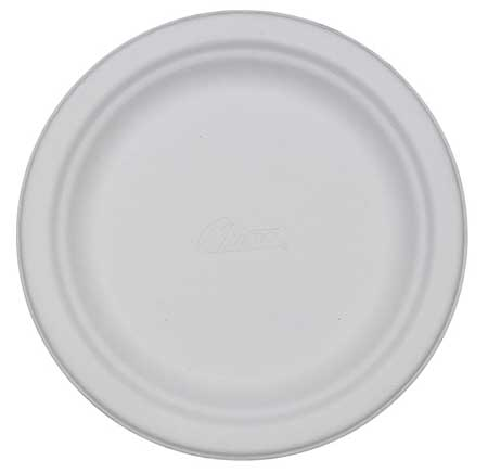 "Paper, Plate, Round, 8-3/4"", White, PK500"