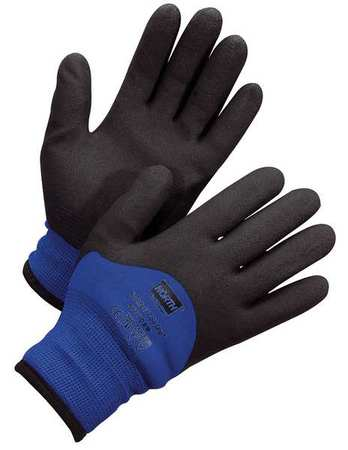 Cut Resistant Gloves, 2XL, Black/Blue, PR