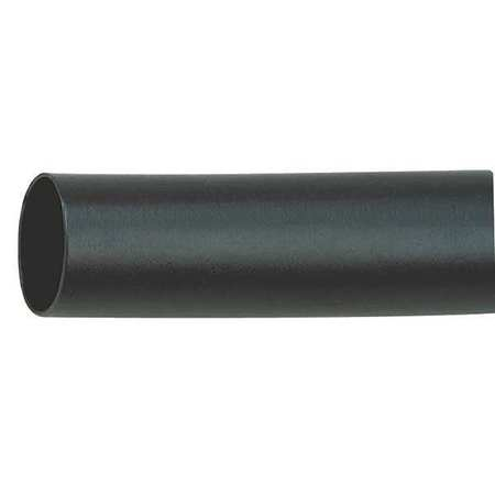 Shrink Tubing, 0.35in ID, Black, 4ft, PK12