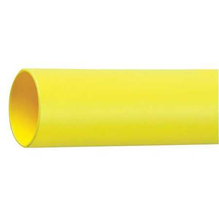 Shrink Tubing, 0.375in ID, Yellow, 4ft, PK12