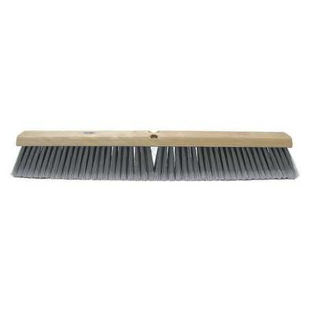 TOUGH GUY Gray Polystyrene Fine Sweeping Push Broom