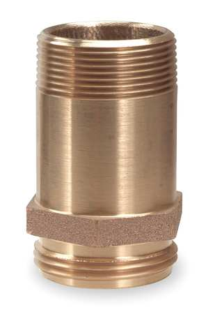 RackNipple, FireHose, Brass, 2-1/2in