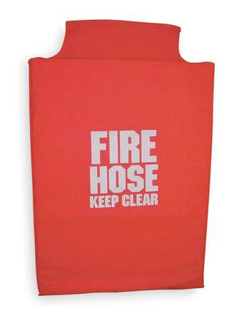Fire Hose Cover, 24 In.L, 6 In.W, Red