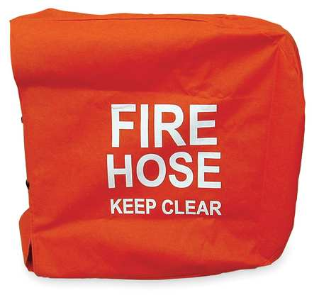 Fire Hose Cover, 25 In.L, 25 In.W, Red