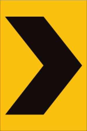 Traffic Sign, 18 x 12In, BK/YEL, SYM, W1-8