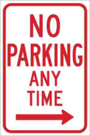 Parking Sign, 18 x 12In, R/WHT, R7-1R