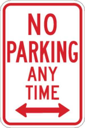 Parking Sign, 18 x 12In, R/WHT, R7-1D