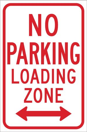 Parking Sign, 18 x 12In, R/WHT, R7-6D