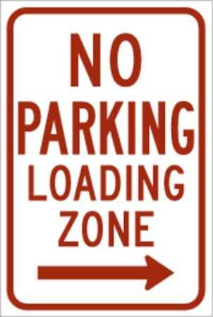 Parking Sign, 18 x 12In, R/WHT, R7-6R