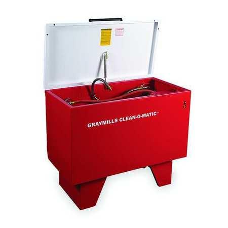 Parts Washer, Solvent, 117 Gal, Cap 500 Lb
