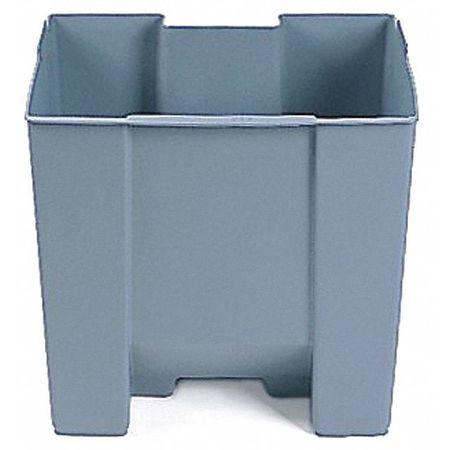 19 gal.  Gray  Trash Can