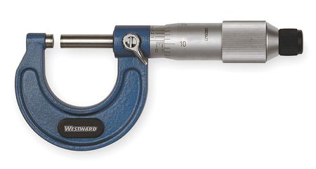 Micrometer, 0-1 In, 0.001, Friction