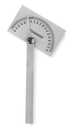 Protractor, Steel, 6 In