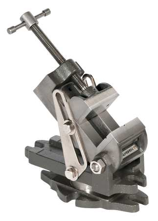 Angle Vise, Swivel, 2  7/16 In W, 2.5 In D