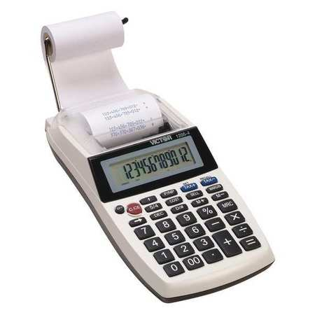 Portable Desktop Calculator, LCD, 12 Digit