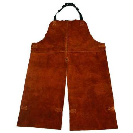 Split Leg Welding Bib Apron,  Leather