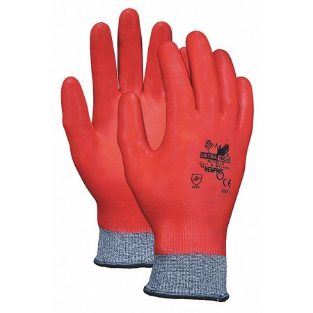 Ultra Tech Fully-Coated- Nitrile-Palm Coated Cut- and Abrasion-Resistant Gloves