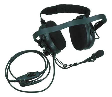 Noise Reducing Headset, Behind the Head