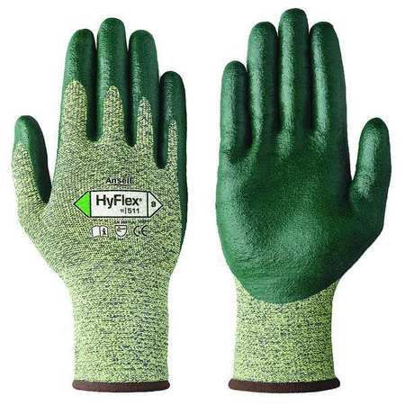 Cut Resistant Gloves, Yellow/Green, XS, PR