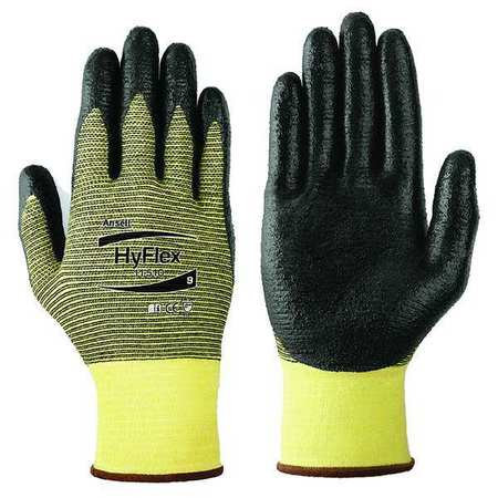 Cut Resistant Gloves, Yellow/Black, XS, PR