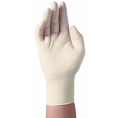 Disposable Gloves, Latex, S, Natural, PK100