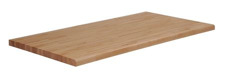 Workbench Top, Butcher Block, 72x36, Radius