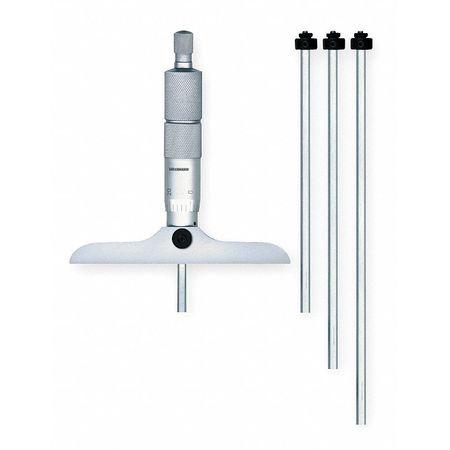 Micrometer, Depth, 0-4in