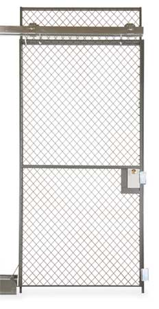 Wire Partition Sliding Door, 4 Ft X 8 Ft