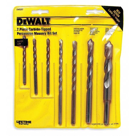 Masonry Drill Bit Set, Straight, 7 pcs.
