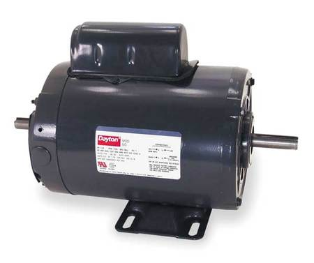 Tool Motor, 2-Shaft, 1 HP, 3450rpm, 115/230V