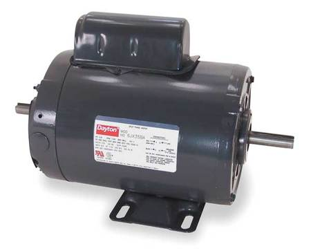 Tool Motor, 2-Shaft, 1 HP, 1725 RPM, 115/230