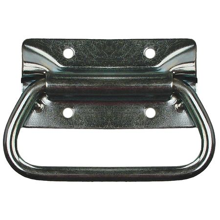 Folding Pull Handle, Polished Zinc