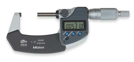 Digital Micrometer, 1-2In, 0.00005, SPC